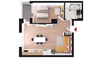 Apartament 2 camere Floresti Columna Residence