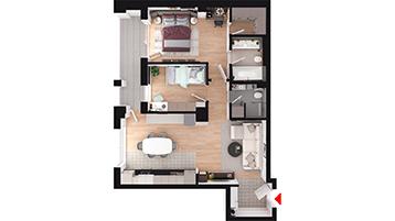 Apartament 3 camere Floresti Columna Residence