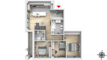 Apartament 4 camere Floresti Columna Residence